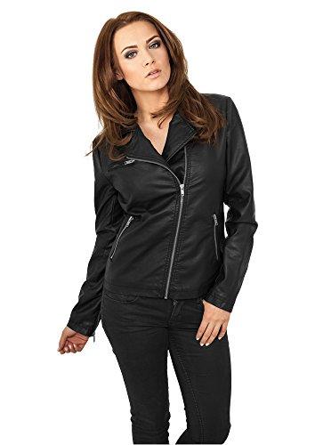 Urban Classics TB756 Ladies Biker Jacket Giacca donna BLACK XL