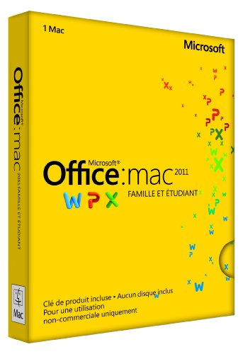 Office Mac Home & Student 2011 French (1PC/1User) (PC Key Card)