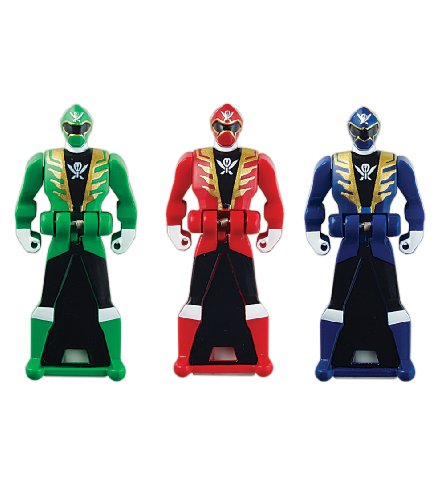 Power Rangers Super Megaforce - Power Rangers Super Megaforce Legendary Ranger Key Pack, Red/Blue/Green - 1