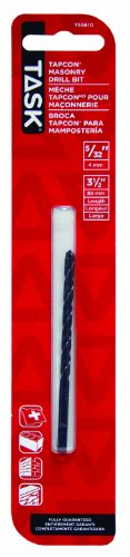 Task Tools T55810 Tapcon Masonry Drill Bit, 5/32-Inch by 3-1/2-Inch