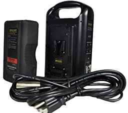 Dracast DR-1x89S-1xCH2V-KIT V-Mount Battery and Charger Kit, Black