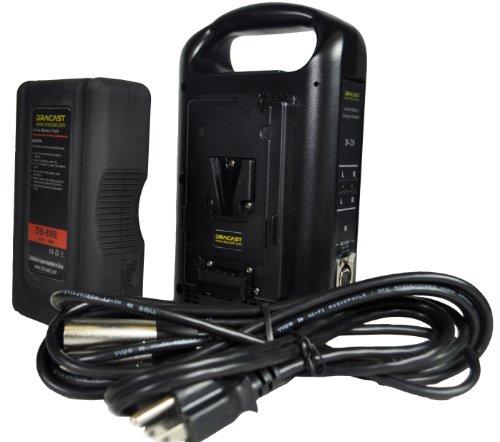 Dracast DR-1x89S-1xCH2V-KIT V-Mount Battery and Charger Kit, Black