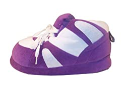 Happy Feet - Purple and White - Slippers