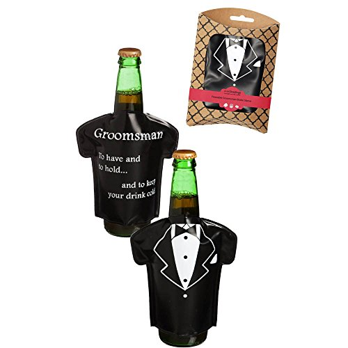 Groom Bottle Cover Fashion Evergreeting front-1001909