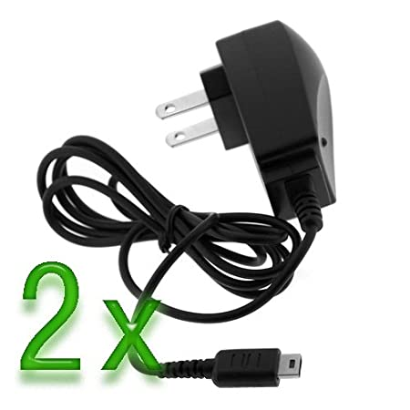 GTMax 2x Premium Quality Home Travel AC Wall Charger adapter for Nintendo DS / Game Boy Advance SP