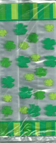 St. Patrick's Day Treat Bags 20 ct Stripes and Clovers