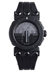 RSW Men's 7125.1.R1.5.00 Outland Disk Black IP Stainless Steel Automatic Sub-seconds Rubber Watch