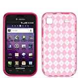 Hot Pink TPU Candy Rubber Flexi Skin Case Cover for Samsung Galaxy S 4G Pho ....