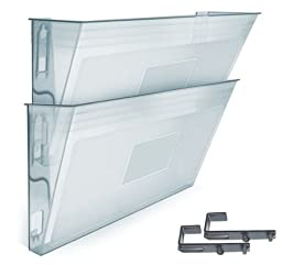 Acrimet Wall-mounted Modular File Holder (2 - Pack) (Crystal Color)