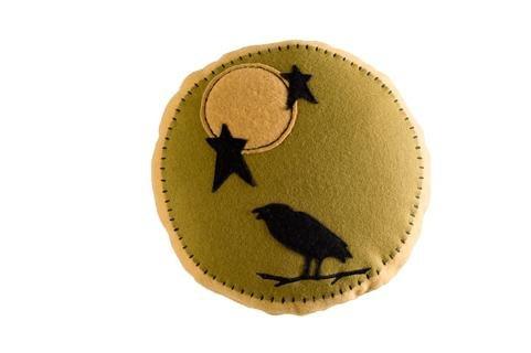 """Raven Moon Halloween Harvest Pillow 12"""" Diameter front-735041"""