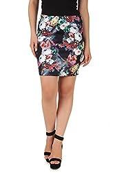 NOD Black Printed skirt for women