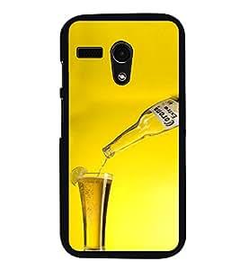 ifasho Designer Phone Back Case Cover Motorola Moto G :: Motorola Moto G (1st Gen) :: Motorola Moto G Dual ( Pink and Black Pattern Design )