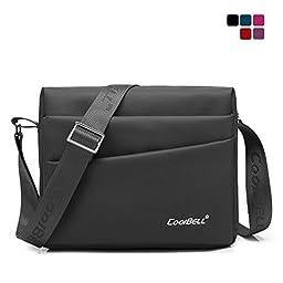 CoolBell(TM)10.1 inches Unisex Laptop Shoulder Bag Waterproof Oxford Bag Messenger Bag Leisure Bag Briefcase For iPad/Tablet/Men/Women/Teens/college,Black