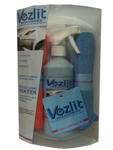 Vezlit Aqualess, Professional Waterless Car Wash, Polish & Protect Gift Set