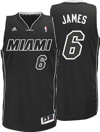 Miami Heat LeBron James Black-Black-White Swingman Jersey by adidas