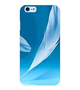 ColourCraft Lovely Feathers Design Back Case Cover for APPLE IPHONE 6