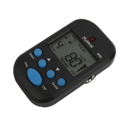 M50 Black Digital Lcd Beat Tempo Metronome Clip + Battery