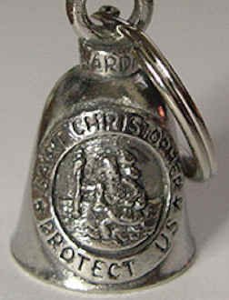 St Christopher Guardian Biker Bell