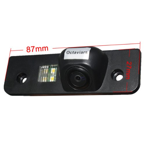 Koolertron? For Skoda Octavia License Plate Backup CMOS NTSC Car Reverse Rearview Camera waterproof & night vision ---Big sale for limited days,Don't miss it!