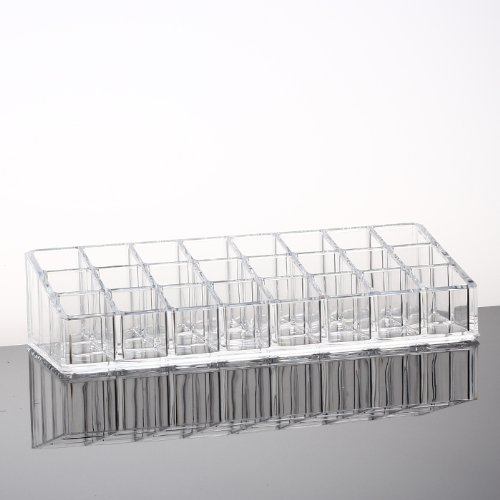 Clear Acrylic Lipstick Organizer/Holder With 24 Spaces front-95290
