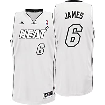 Miami Heat LeBron James Cultural White Black Swingman Jersey By Adidas by adidas