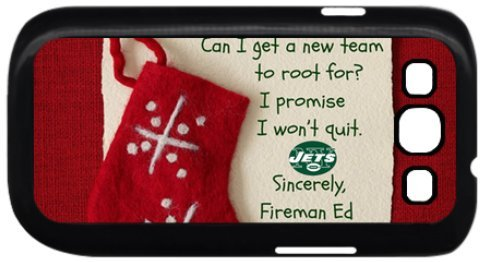 Nfl New York Jets Samsung S3 Case, Special Design Nfl Christmas Letters Samsung S3 Case Cover- 1la205 at Amazon.com