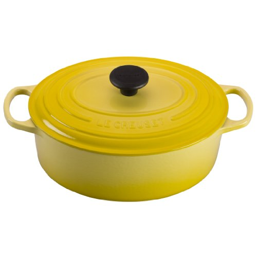 Le Creuset Signature Enameled Cast-Iron 1-Quart Oval French (Dutch) Oven, Soleil