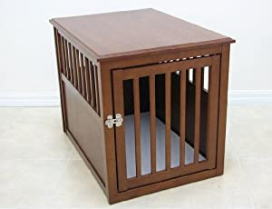 Crown Pet Crate Table, Large Size with Mahogany Finish