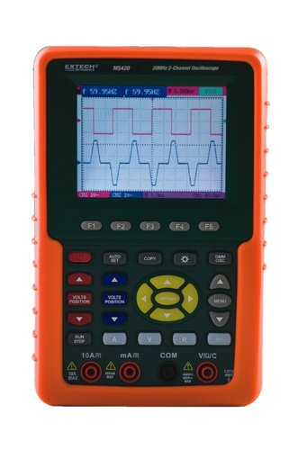 Extech MS420 20MHz 2-Channel Digital Oscilloscope - Extech - EX-MS420 - ISBN:B004CR4MCO