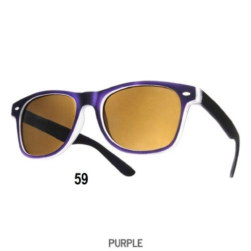4sold Sonnenbrille Nerdbrille retro Wayfarer Unisex Herren/Damen Sonnenbrille, UV-Schutz 400, Schildpatt Herren Sonnenbrille Spicoli 4 Shades, Tortoise Aussen, One size (19) (59)