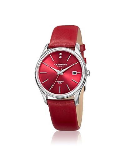 Akribos XXIV Women's AK879RD Velvet Burgundy Leather Watch