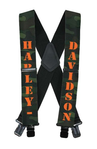 Harley-Davidson H-D Name Camouflage Suspenders, 42 Inch Sus022253