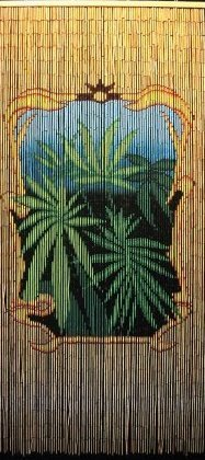 Natures Finest Pot Leaf Door Curtain ~ Gateways 100% Bamboo Beaded Door Curtain