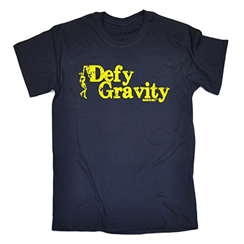 Adrenaline Addict Men'S Defy Gravity - Adrenaline Addict - Loose Fit Baggy T-Shirt Medium Navy