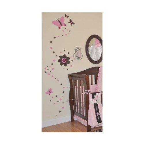 Dk Leigh Vinyl Wall Art, Motif Pink And Brown