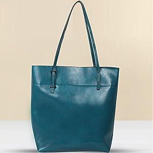 TOP-BAG® lovely women ladies' genuine leather tote bag handbag shoulder bag, JCZN9444