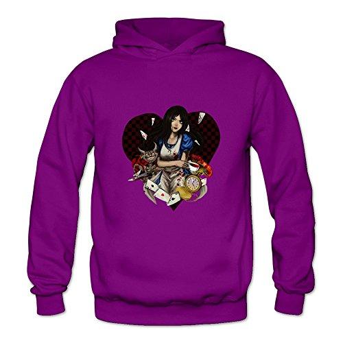 TBTJ Men's Alice Madness Returns Hooded Pullover Sweatshirt X-Large