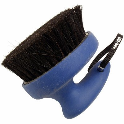 Oster Equine Care Series Face Finishing Brush, Medium Bristle, Natural Horse Hair, Blue