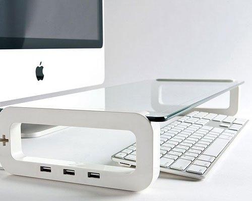 デスクをすっきりさせる USBハブ付きモニターボード UBOARD(ユーボード) / テック