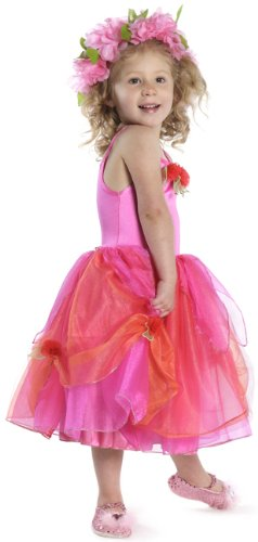 Deluxe Rose Fairy Tulle Dress Pink Child Costume