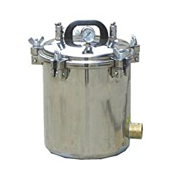 BJ 12L Medical Portable High Pressure Steam Autoclave Sterilizer Stainless Steel LM 110V