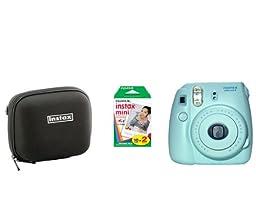 Fujifilm Instax Mini 8 Blue Camera + 20 Mini Images + case