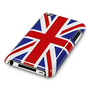 APPLE IPOD TOUCH 4TH GEN UNION JACK GLOSSY BACK COVER CASE / SKIN / SHELL PART OF THE QUBITS ACCESSORIES RANGE