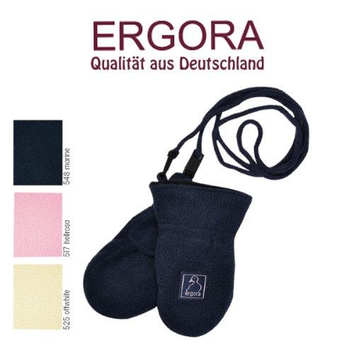Ergora Babyhandschuh mit Sicherheits- und Klettverschluss Micro Fleece Unisex Handschuhe Öko-Tex Standard Größe 0 und 1 in 3 Farben
