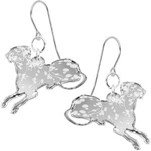 Black Darling Dottie Dalmatian Dog Earrings