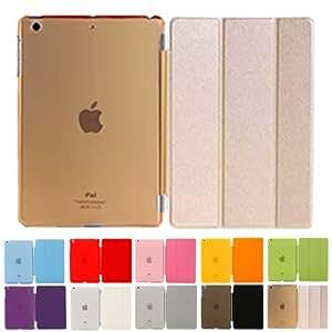 MS factory iPad mini2 mini3 スマート カバー バック ケース ゴールドIPDM3-SSET-GD