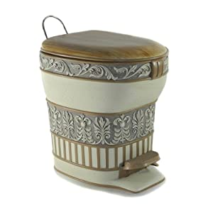 Dream Bath Gorgeous Cynthia Step Trash Can With Lid 5 Liters 1 3 Gallons Luxury Decorative