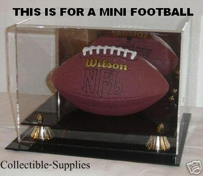 Deluxe Acrylic Mini Football Display Case - With Mirror (Nfl Mini Football Display Case compare prices)