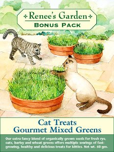Cat Treats Gourmet Mixed Greens Large Packet