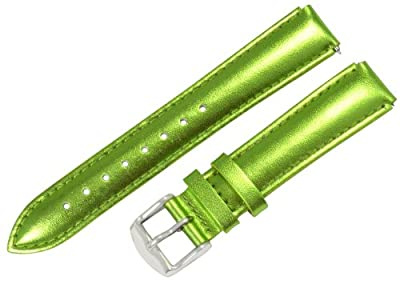 Clockwork Synergy® - 18mm x 15mm - Metallic Green Interchangeable Watch Band Strap Fits Philip Stein Small